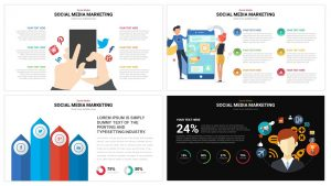 Social Media Infographics powerpoint template