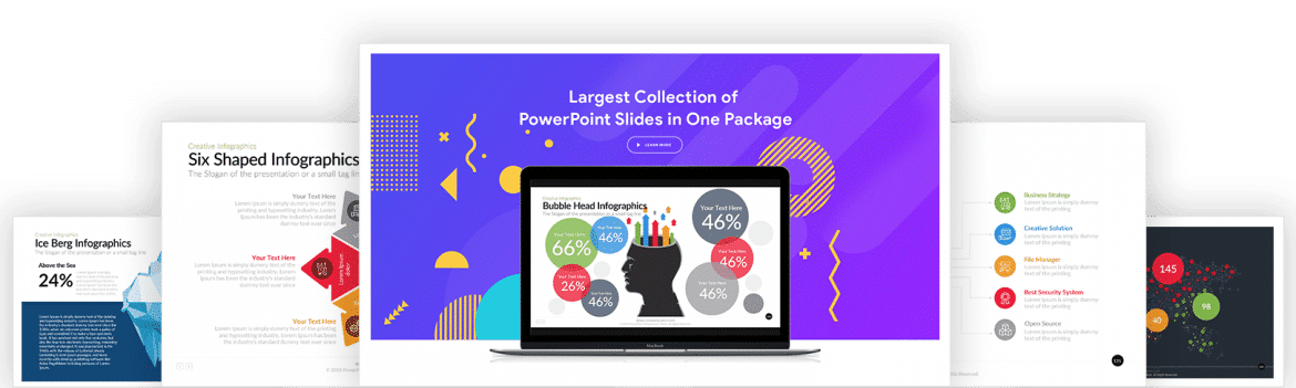 Boost your Presentations with the immense range of visually appealing templates & infographics