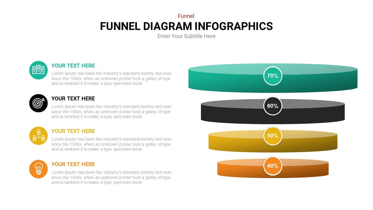 4 step funnel powerpoint template