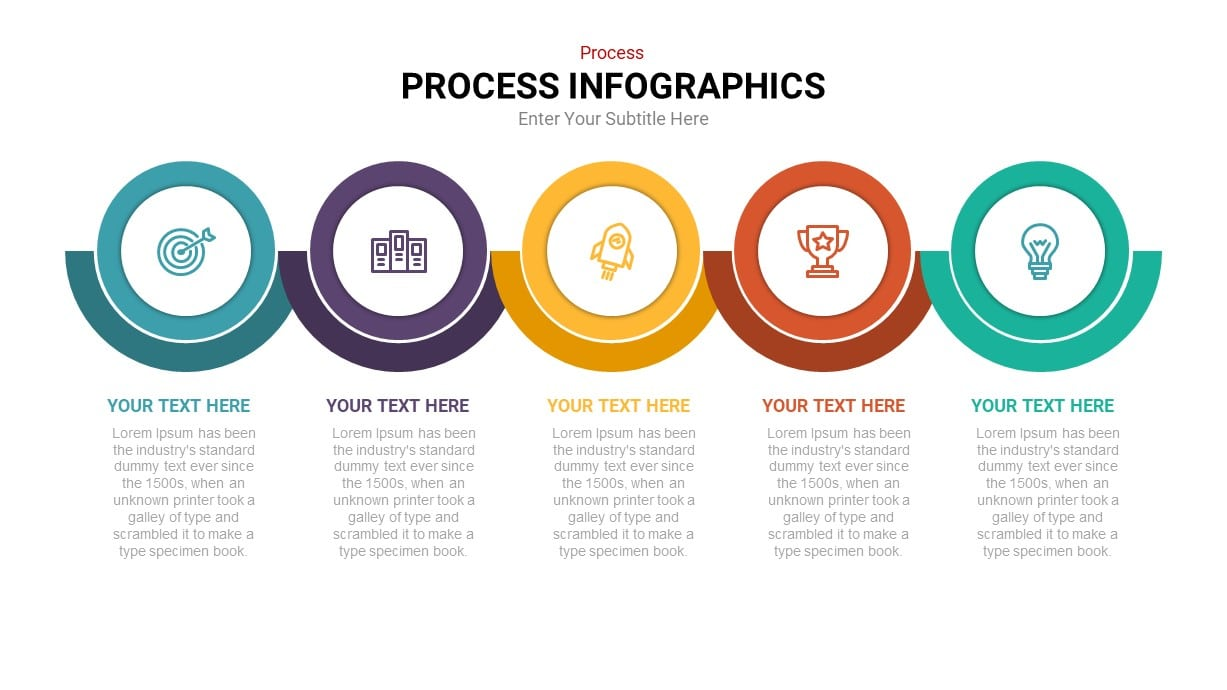 5 step process infographic template