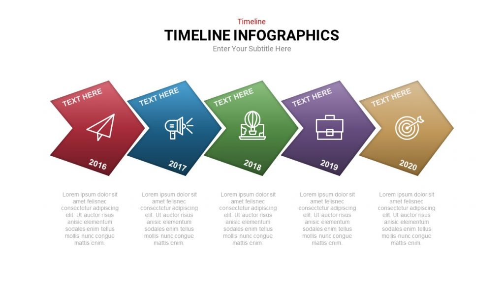 5 step timeline template for powerpoint
