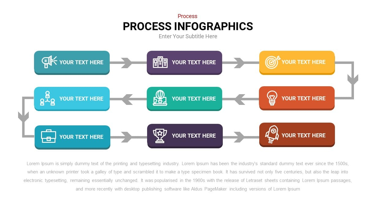 Arrow process infographic template