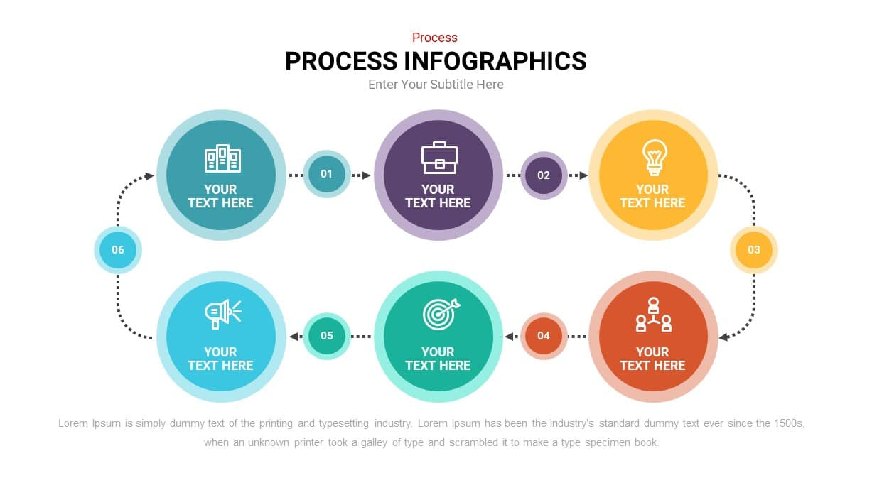 Circular process flow infographic template