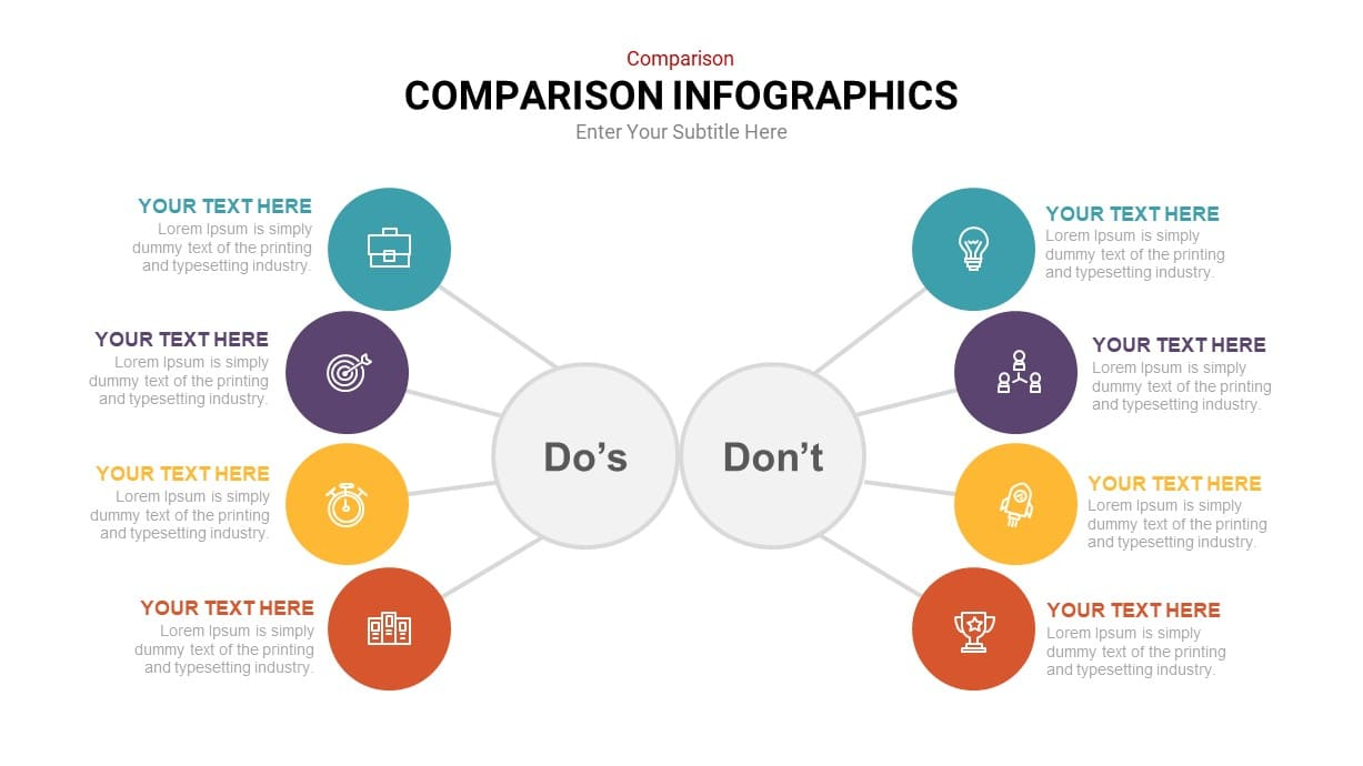 Do's and Don't's comparison infographic template