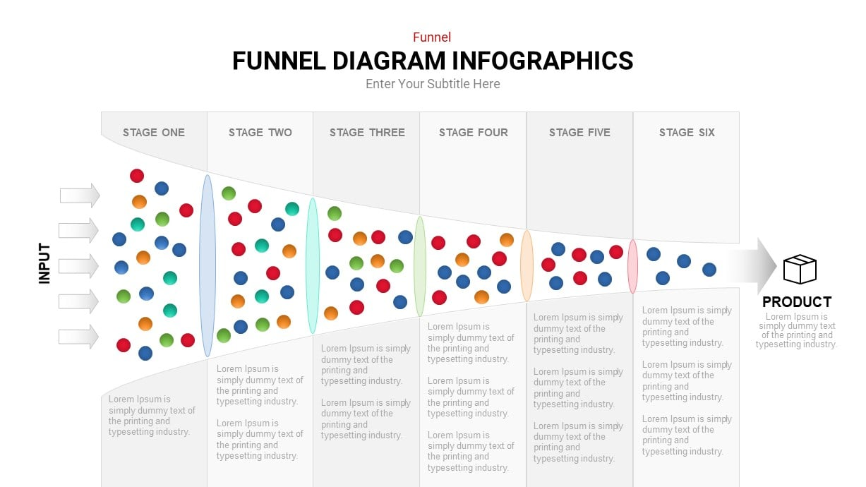 Funnel flow template for powerpoint