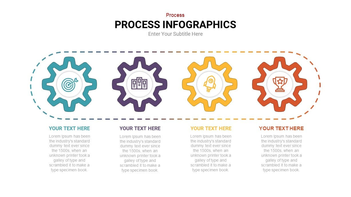 Gear process powerpoint template