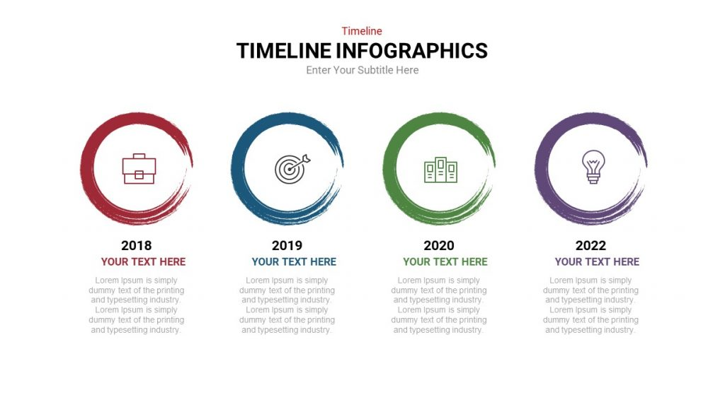 Linear Bubble Timeline Infographic Template-