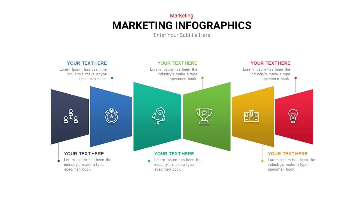 Linear marketing infographic template