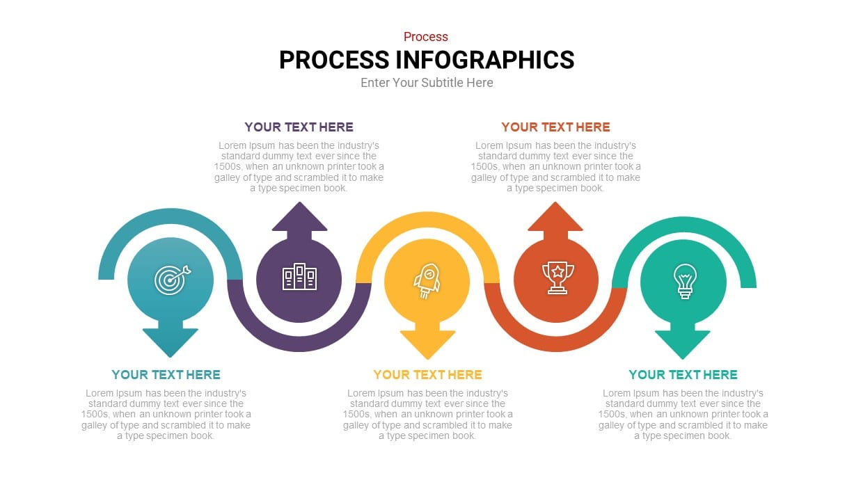 Linear process infographic template