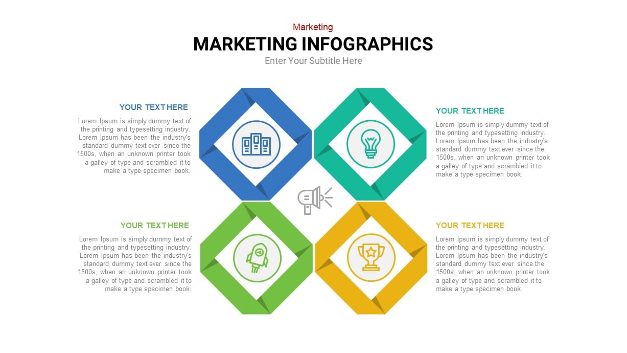 Marketing plan infographic template