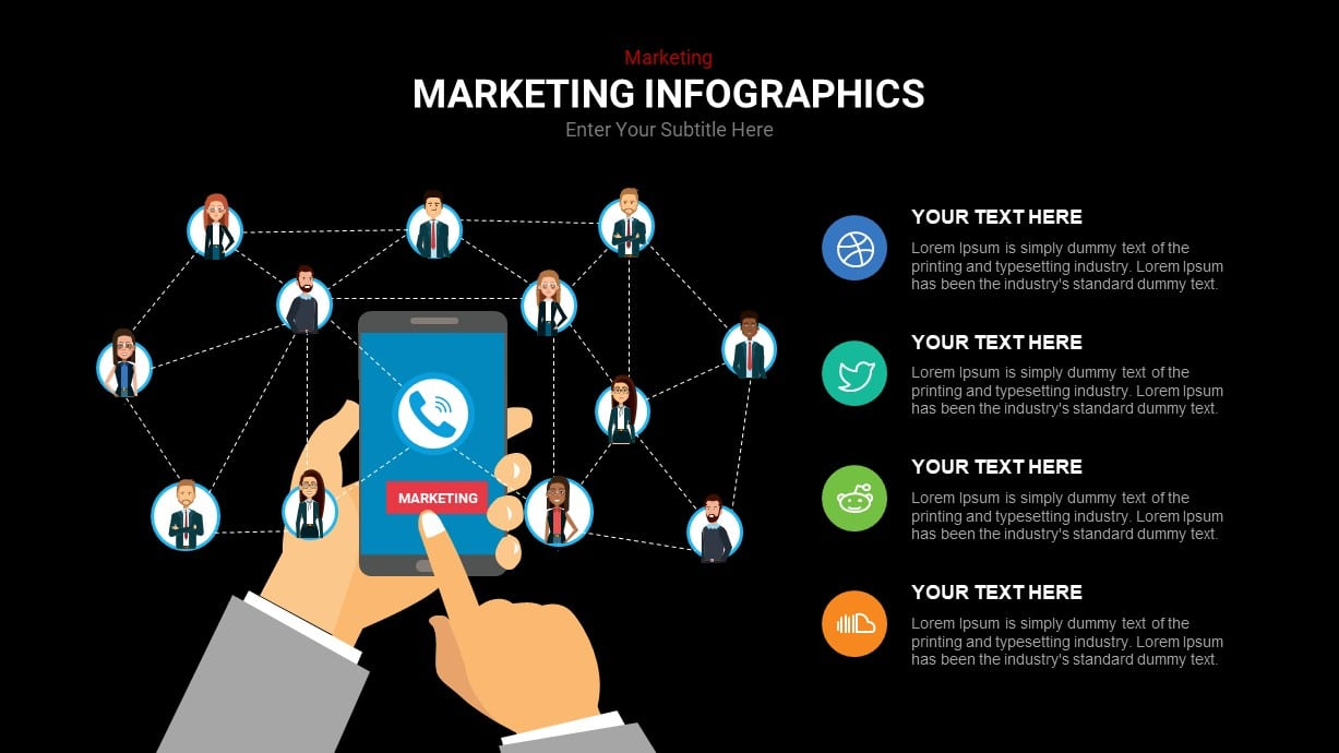 Network marketing infographic template