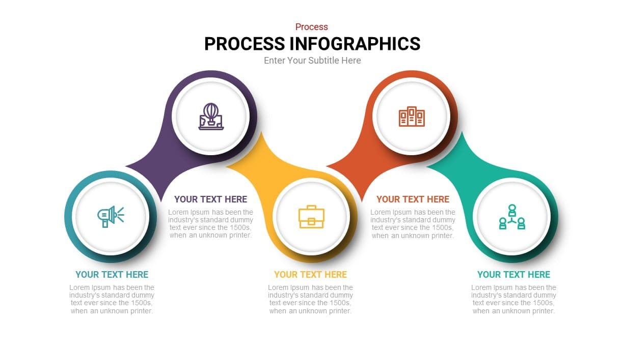 Process flow infographic powerpoint template