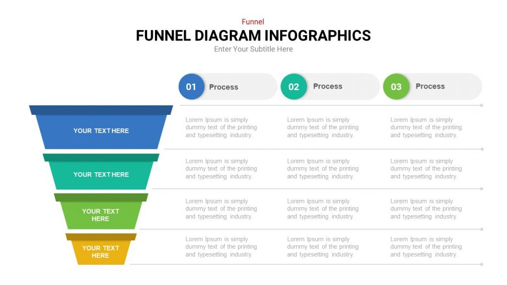 Process funnel infograhic template