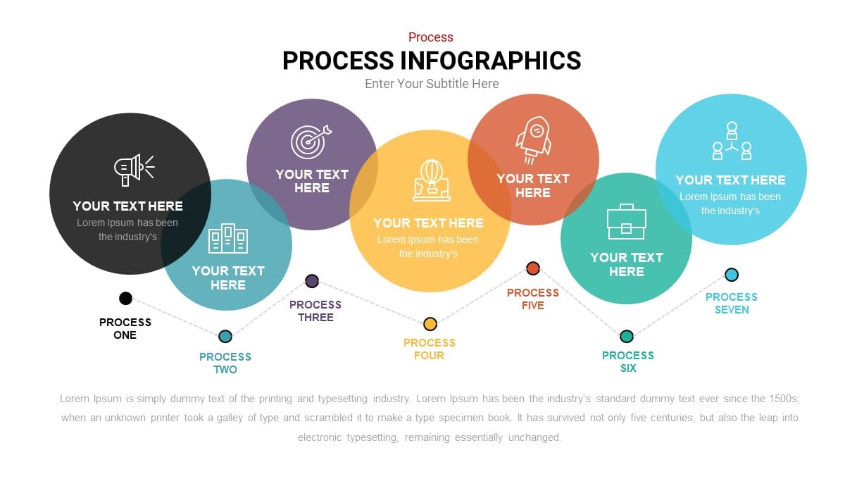 Process infographic bubble diagram template