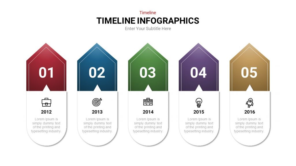 Sequential Tag Timeline Infographic PowerPoint Template