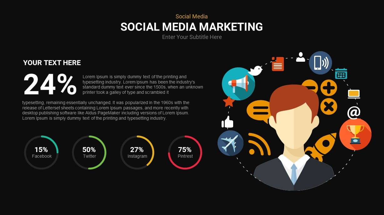 Social Network And Communication PowerPoint Template