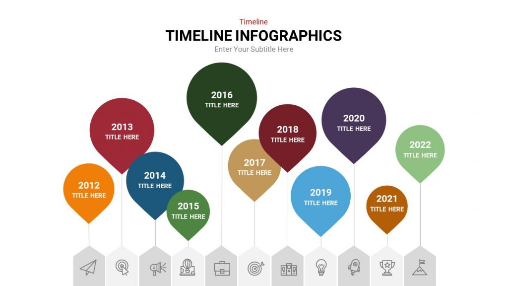 Balloon Infographic Timeline Template