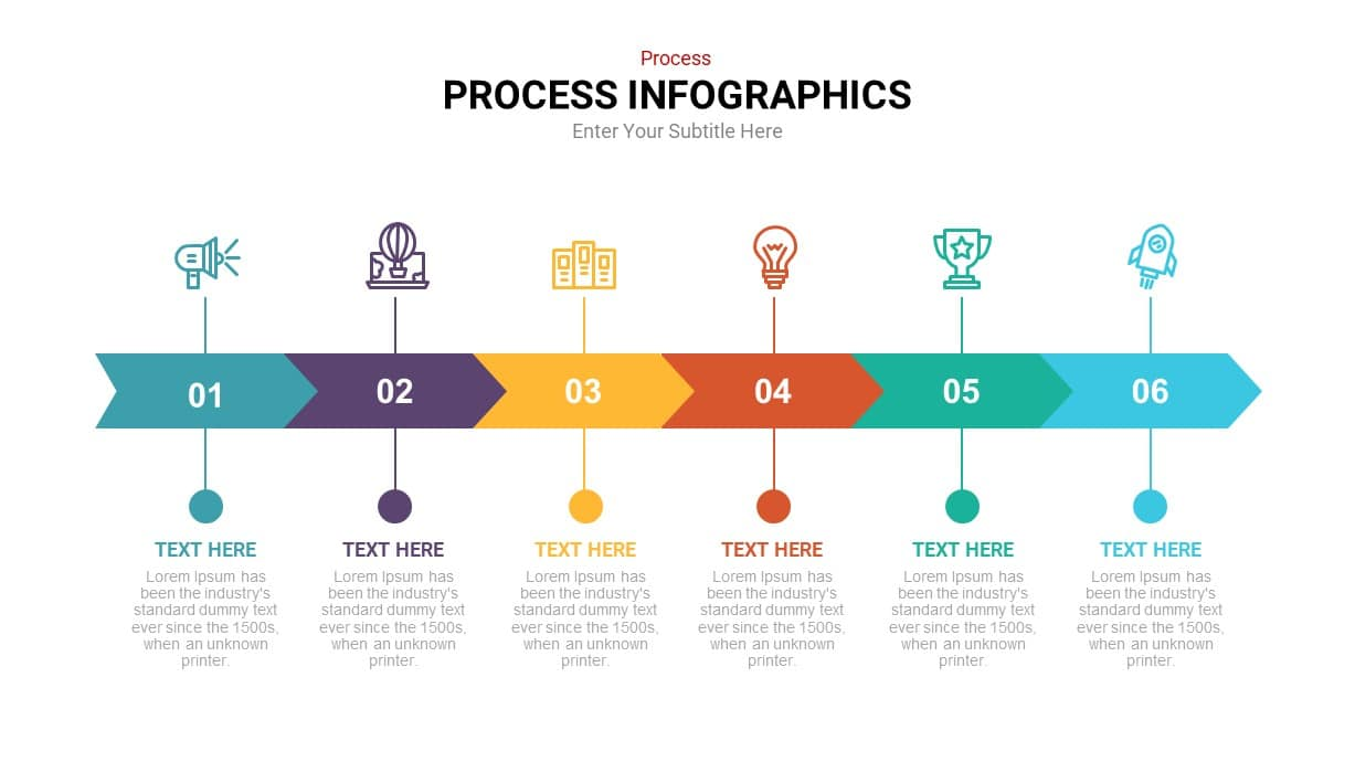 Timeline process infographic template