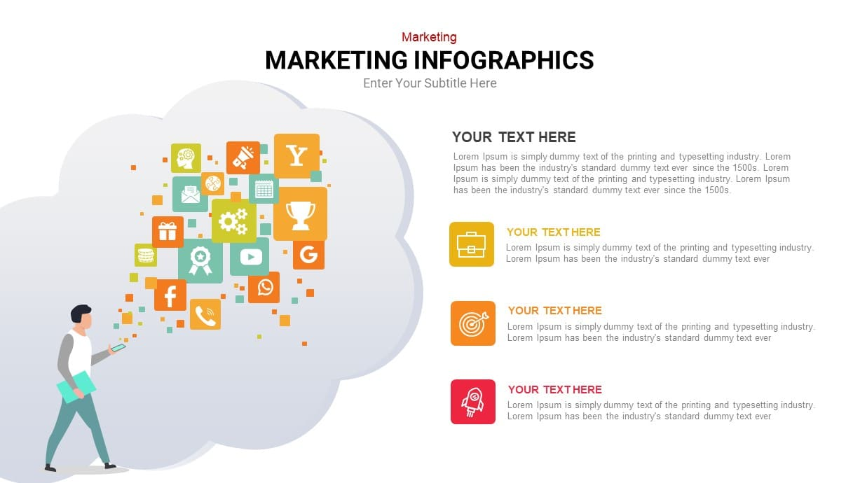 internet marketing infographic template