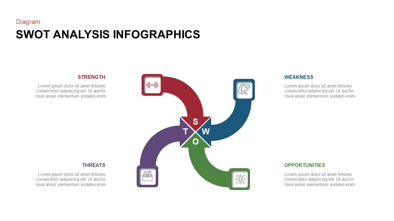 Business PowerPoint SWOT Analysis Template