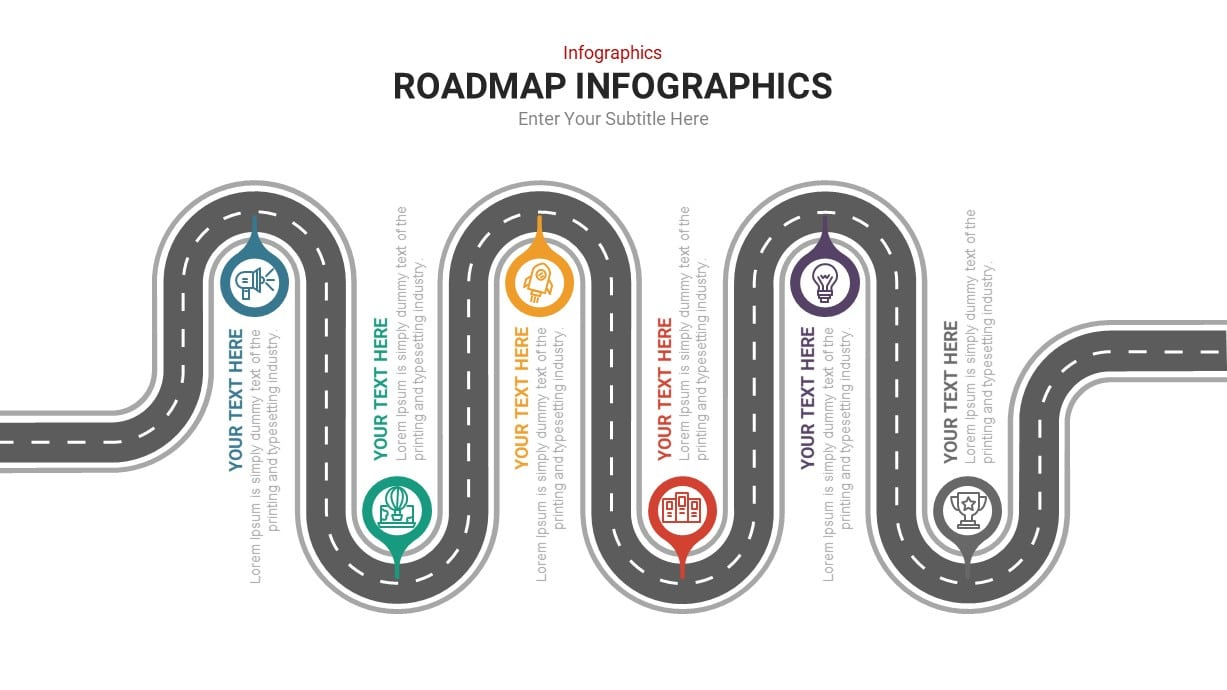 Roadmap Infographic PowerPoint Template