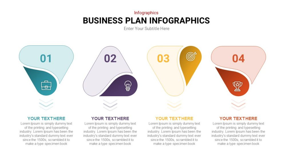 4 Step Process Infographic Template for Business Presentation