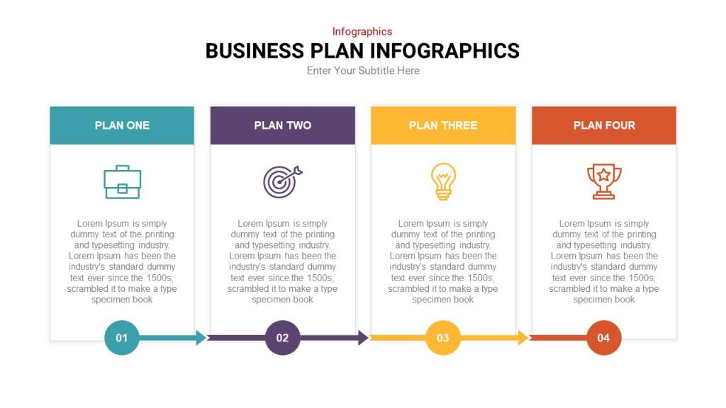 4 Step Infographic Templates