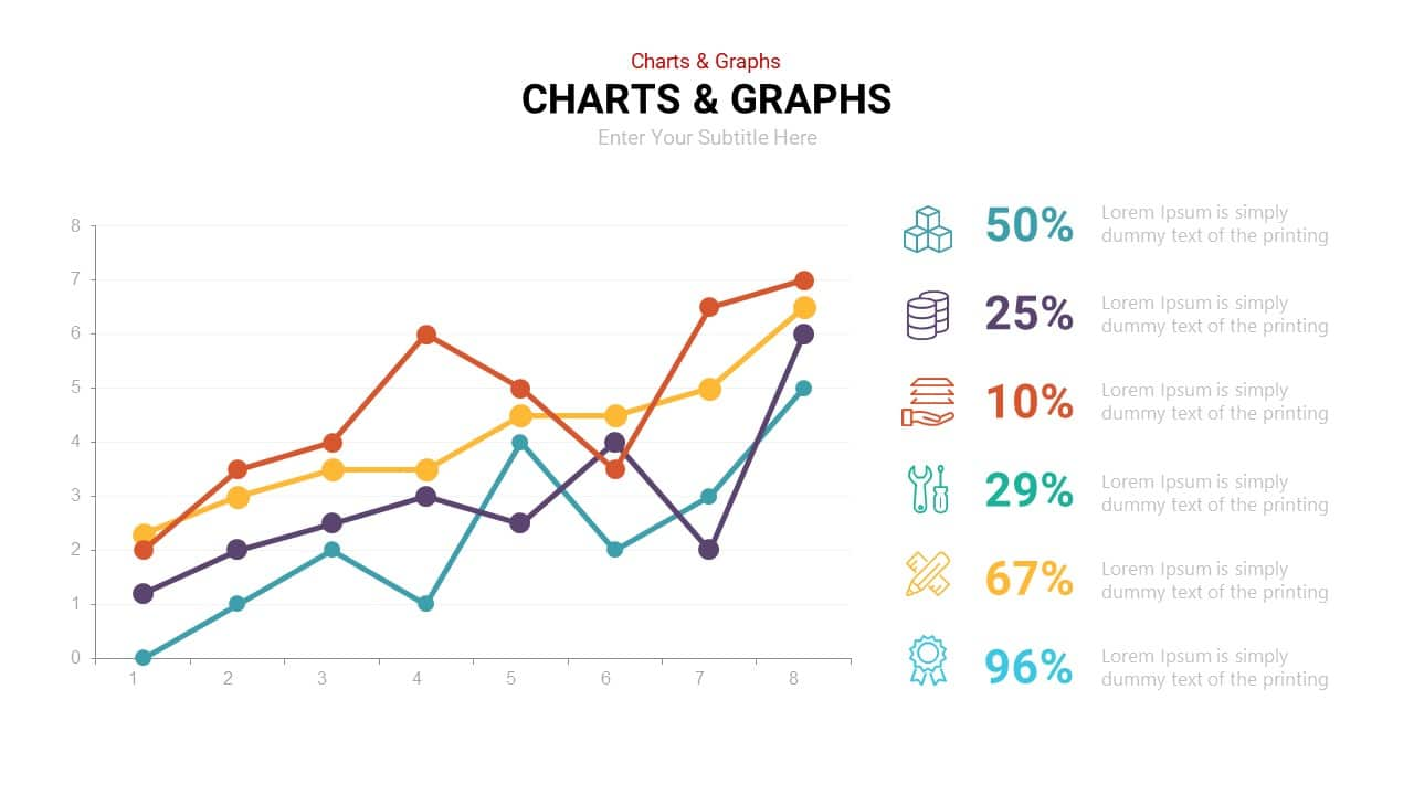 Curved Line Graph PowerPoint Template